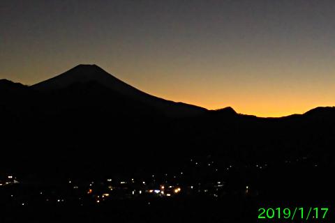 2019年1月17日の富士山