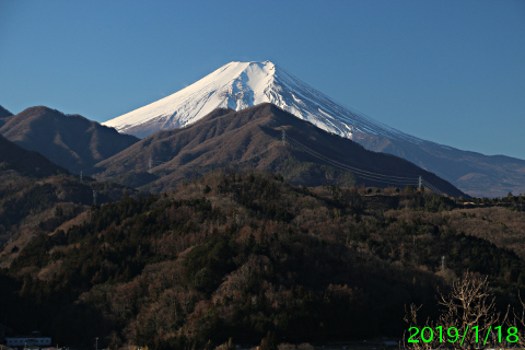 2019年1月18日の富士山