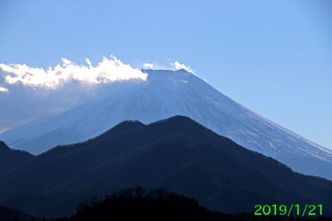 2019年1月21日の富士山