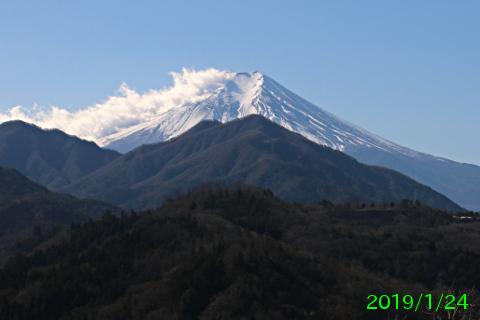 2019年1月24日の富士山