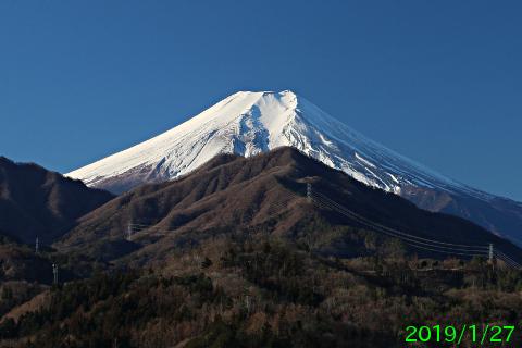 2019年1月27日の富士山