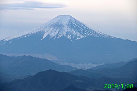 2019年1月28日の富士山