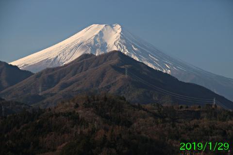 2019年1月29日の富士山