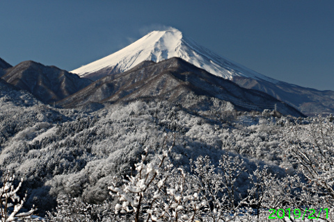 2019年2月1日の富士山