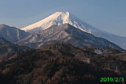 2019年2月3日の富士山