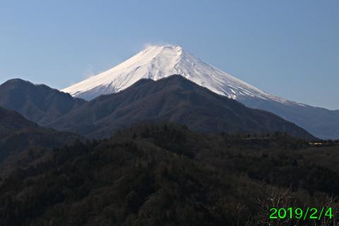 2019年2月4日の富士山