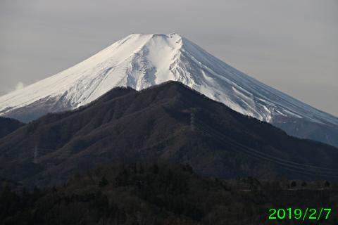 2019年2月7日の富士山