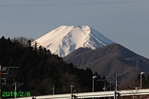 2019年2月8日の富士山