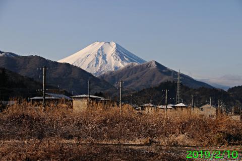 2019年2月10日の富士山