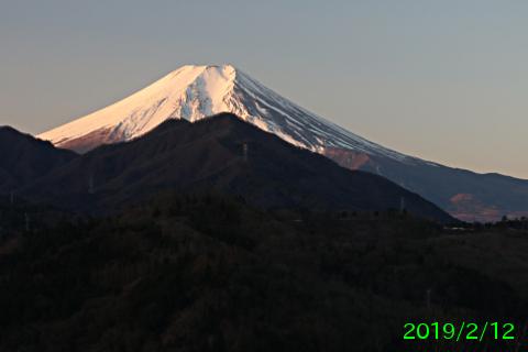 2019年2月12日の富士山