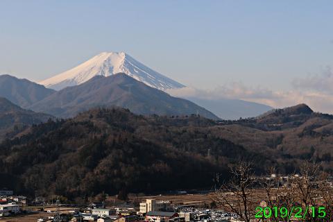 2019年2月15日の富士山