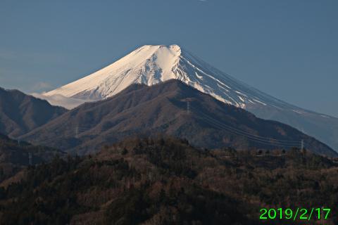2019年2月17日の富士山