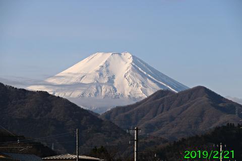 2019年2月21日の富士山