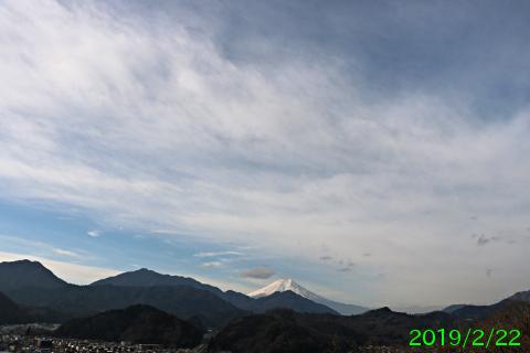 2019年2月22日の富士山