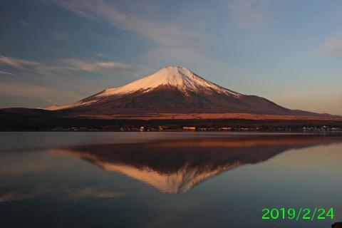 2019年2月24日の富士山