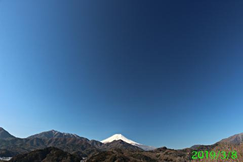 2019年3月8日の富士山