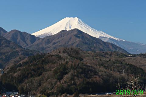 2019年3月9日の富士山