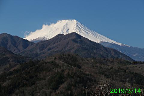 2019年3月14日の富士山