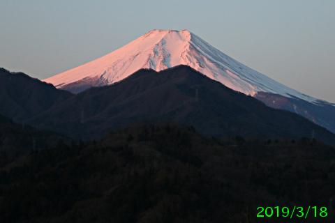 2019年3月18日の富士山