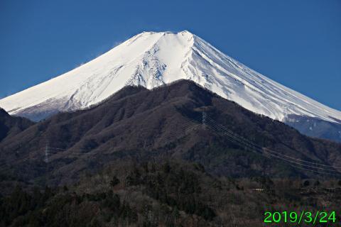 2019年3月24日の富士山