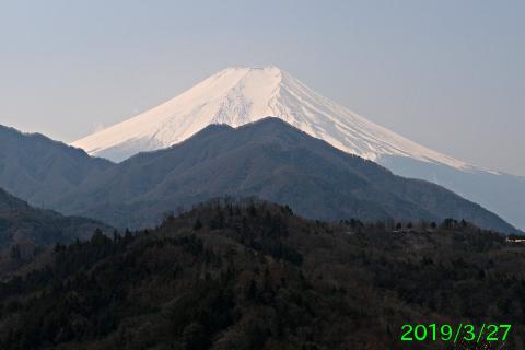 2019年3月27日の富士山