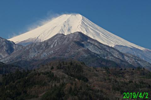 2019年4月2日の富士山