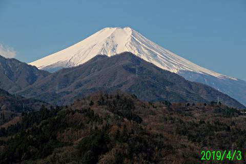 2019年4月3日の富士山