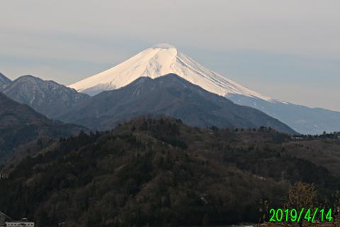 2019年4月14日の富士山