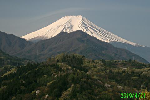 2019年4月21日の富士山
