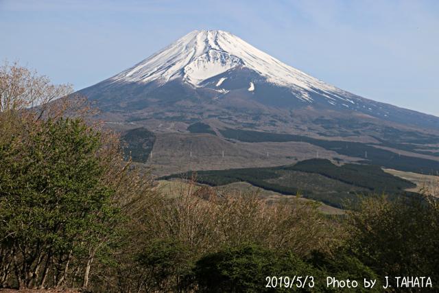 2019年5月3日の富士山