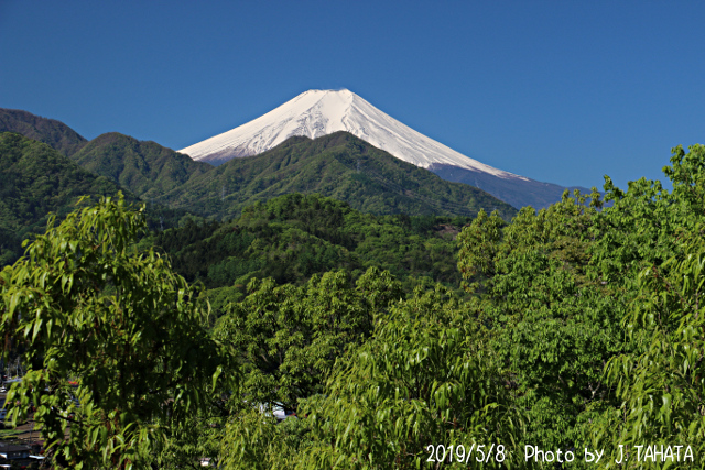 2019年5月8日の富士山