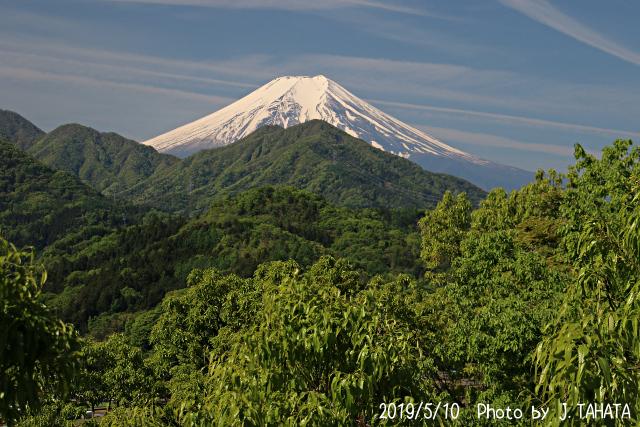 2019年5月10日の富士山