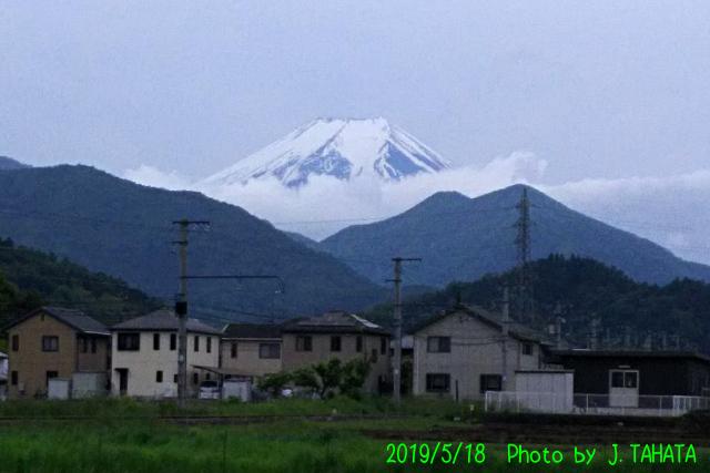 2019年5月18日の富士山