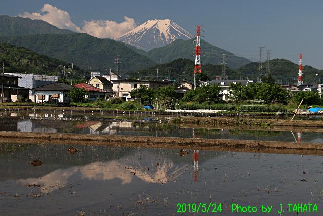 2019年5月24日の富士山