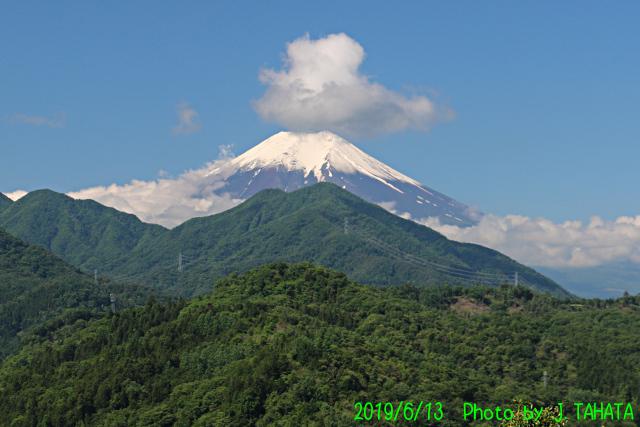 2019年6月13日の富士山