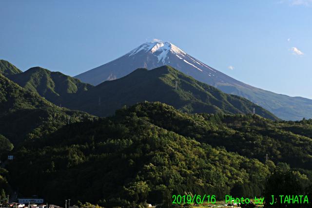 2019年6月16日の富士山