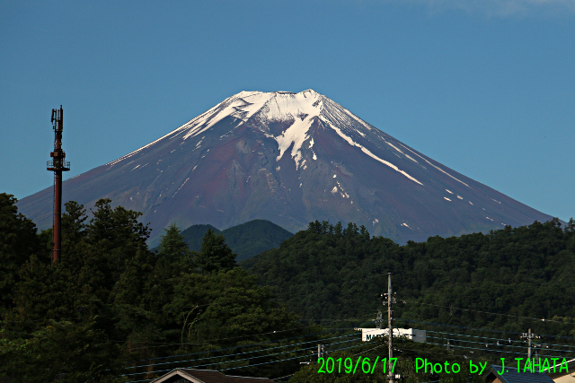 2019年6月17日の富士山