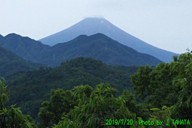 2019年7月20日の富士山