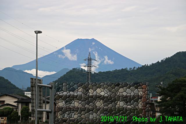 2019年7月21日の富士山