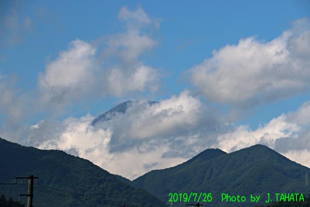 2019年7月26日の富士山