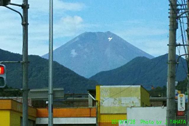 2019年7月28日の富士山