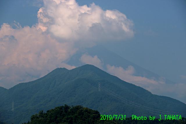 2019年7月31日の富士山