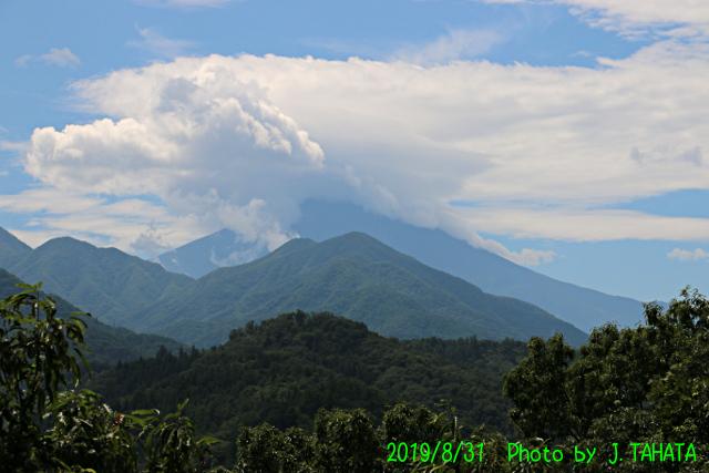 2019年8月31日の富士山