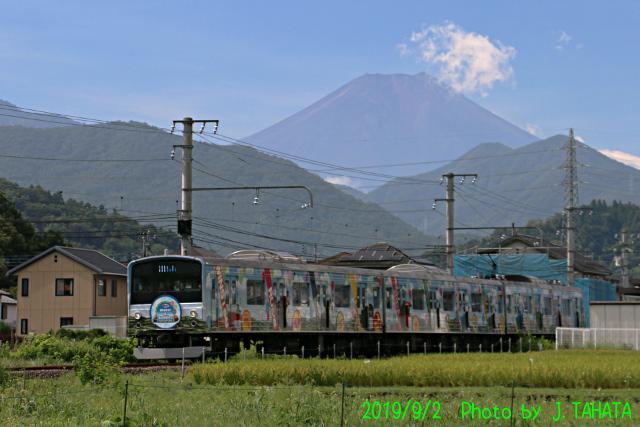 2019年9月2日の富士山