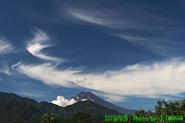 2019年9月6日の富士山