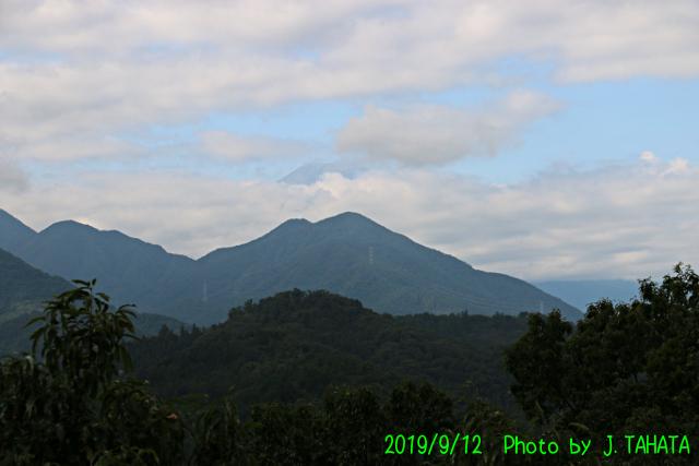 2019年9月12日の富士山