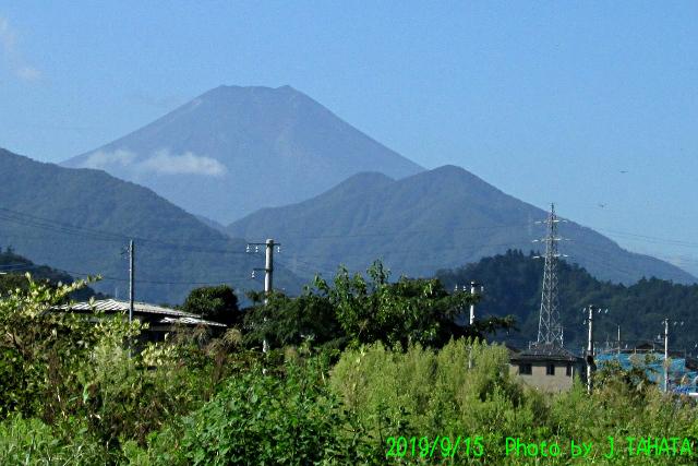 2019年9月15日の富士山
