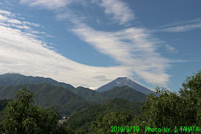 2019年9月19日の富士山