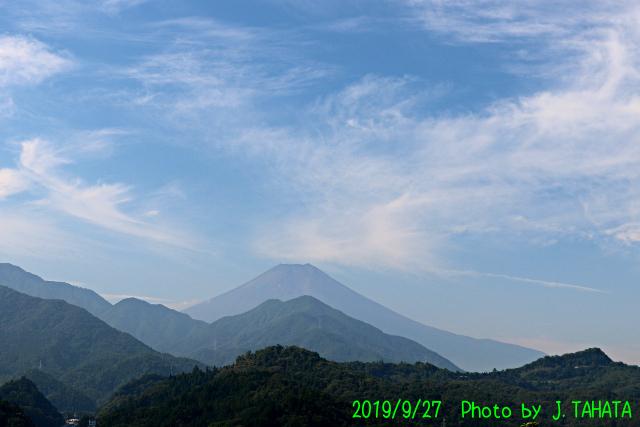 2019年9月27日の富士山