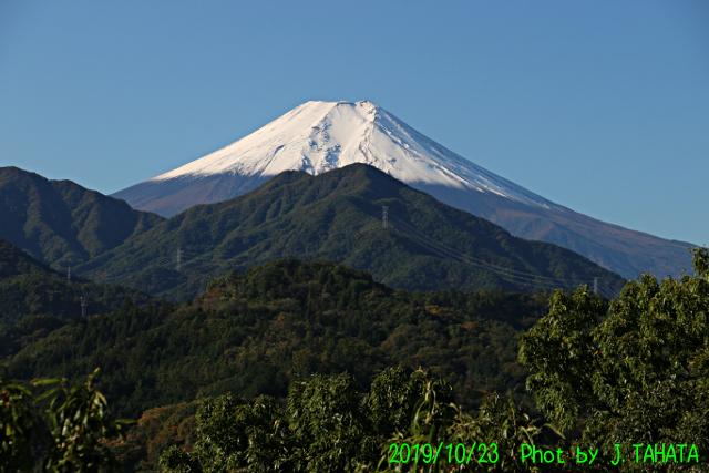 2019年10月23日の富士山